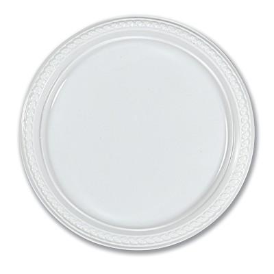 Plastic Plate ⌀26cm - White | 50pcsx10pkts