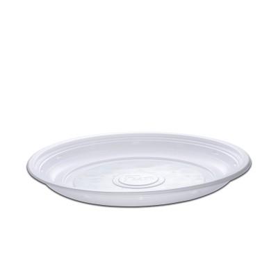 Roundpac Round Plate ⌀26cm - PP/White Deluxe | 25pcsx10pkts)