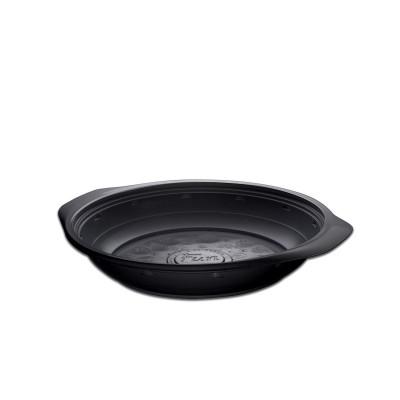 Roundpac Round Deep Plate ⌀22cm w/ Handle- PP/Black Deluxe | 25pcsx10pkts