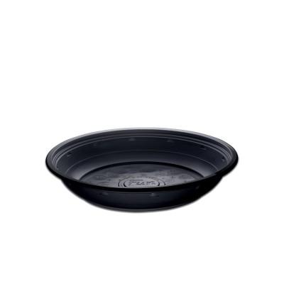 Roundpac Round Deep Plate ⌀22cm - PP/Black Deluxe | 25pcsx10pkts