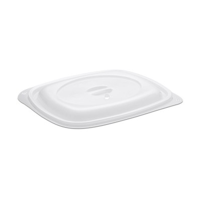 Tutipac Dome Lid for 24/32oz w/ Spork Snap + Steam Valve Hot Multipurpose Containers PP | 300pcs