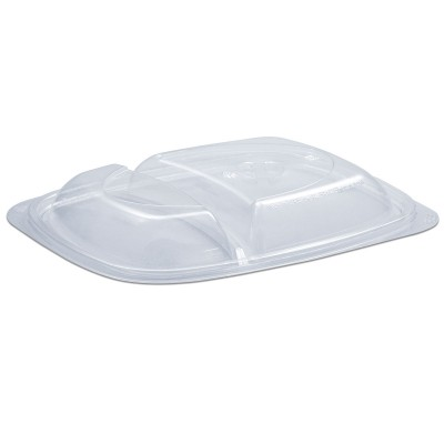 Tutipac Dome Lid for 2-Comp Cold Multipurpose Containers PET   250pcs