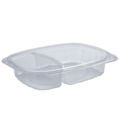 Tutipac 2-Comp Clear Cold Multipurpose Containers PET | 250pcs