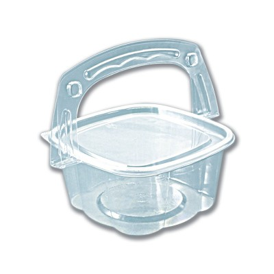 Handipac Basket-Like Clear Container w/ Lid 16oz | 300pcs