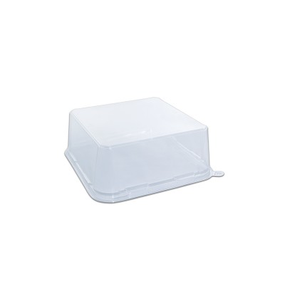 Gourmetpac Trans. Flat Lid for 05GBS20-BL - 210x210x80mm PET | 270pcs