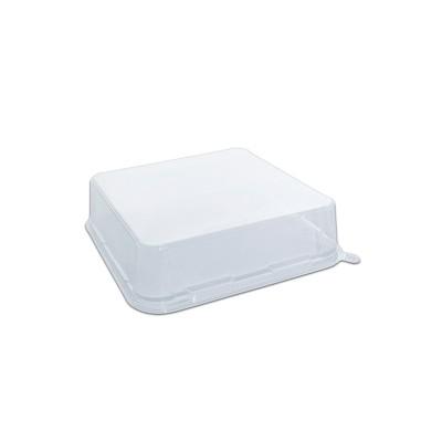 Gourmetpac Trans. Flat Lid for 05GBS22-BL - 232x232x60mm PET | 240pcs