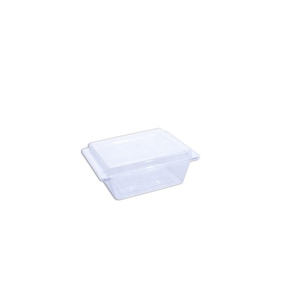 Cristalpac Clear Rectangular Plastic Box(Cap:0.25kg)+Lid - PS | 200pcs