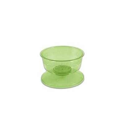 Cristalpac Coloured Dessert Cup - Olive - PS | 48pcsx6pkts