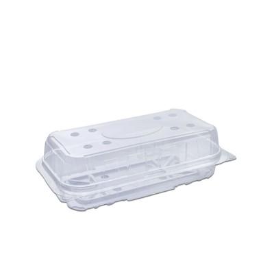 Clear Ventilated Rectangular Box w/ Hinge Lid 180x90x50mm PET   350pcs