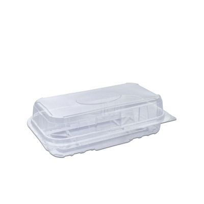 Pastripac Rectangular Clear Pastry Box Flat Bottom 180x90x50mm PET | 350pcs