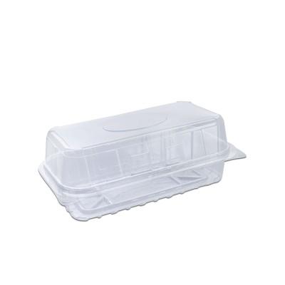 Pastripac Rectangular Clear Pastry Box Flat Bottom 180x90x70mm PET   340pcs