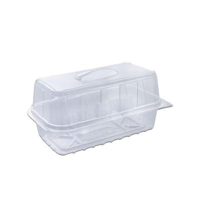 Pastripac Rectangular Clear Pastry Box w/ Handle 180x90x90mm PET | 330pcs