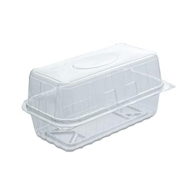 Pastripac Rectangular Clear Pastry Box Flat Bottom 180x90x90mm PET | 330pcs