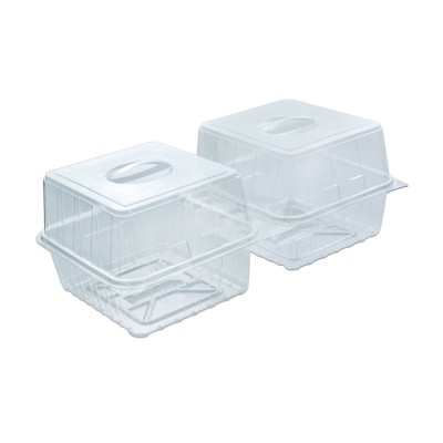 Pastripac Viennese-Croissant Box w/ Handle 380x200x150mm PET | 100pcs