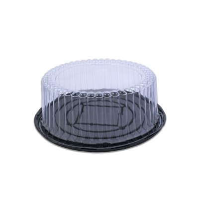 Pastripac Black Base 19cm w/ 10.5cm(H) Clear Cover | 100pcs