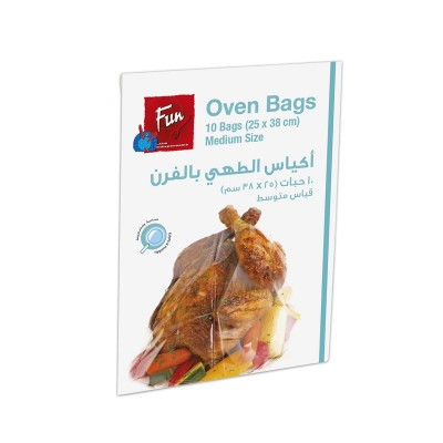 Fun® Plastic Oven Bags 25x38cm w/ Tie Wire - Medium | 10pcsx24pkts
