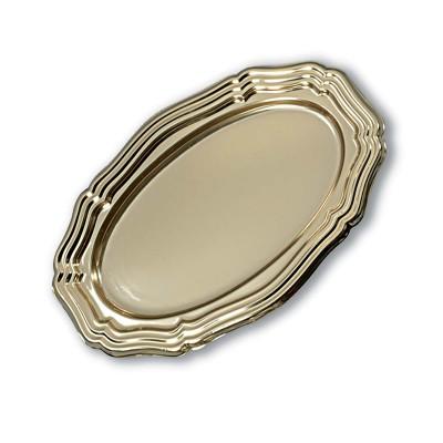 Royal Oval Louis xiv Platter 39x27cm - Gold | 50pcs