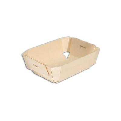 Rectangular Wooden Baking Mould 115x95x40mm | 20pcsx10pkts