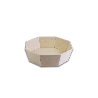 Round Octagonal Wooden Container ⌀130x40mm | 600pcs