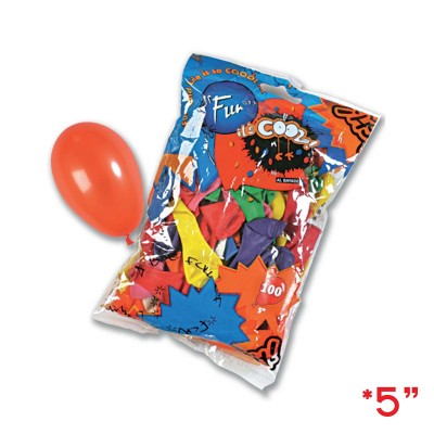 Fun® Balloons 5in Standard - Assorted Colours | 100pcsx25pkts