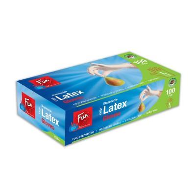 Fun® Disposable Latex Gloves - Large   100pcsx10pkts