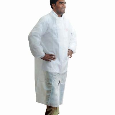 Nonwoven HD Coat (for Visitors) - White | 10pcx10pkts