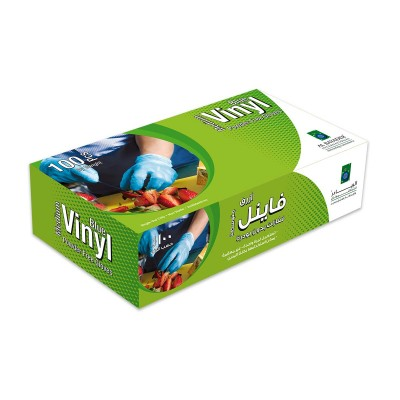 Powder Free Disposable Vinyl Gloves - Medium/Blue   100pcsx10pkts