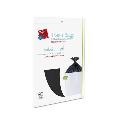 Fun® Biodegradable Garbage Bag 60x90cm - Black | 20pcsx40pkts