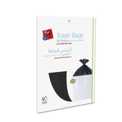 Fun® Biodegradable Garbage Bag 80x110cm - Black | 20pcsx20pkts