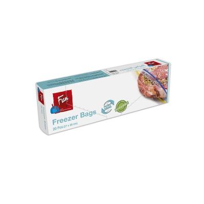 Fun® Biodegradable Freezer Bags w/ Zip 27x28cm | 20pcsx24pkts