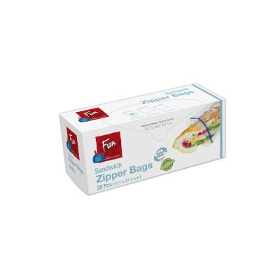 Fun® Biodegradable Zipper Bags 11.7x27.5cm | 25pcsx24pkts
