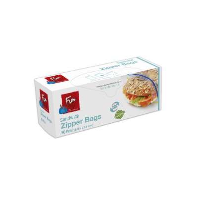 Fun® Biodegradable Zipper Bags 18.3x23.5cm | 50pcsx24pkts
