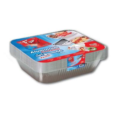 Fun® Aluminium Container w/ Lid 3500cc | 10pcsx10pkts