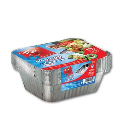 Fun® Aluminium Container w/ Lid 420cc | 10pcsx100pkts