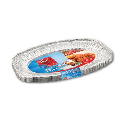 Fun® Oval Aluminium Platter 430x286x25mm | 5pcsx10pkts
