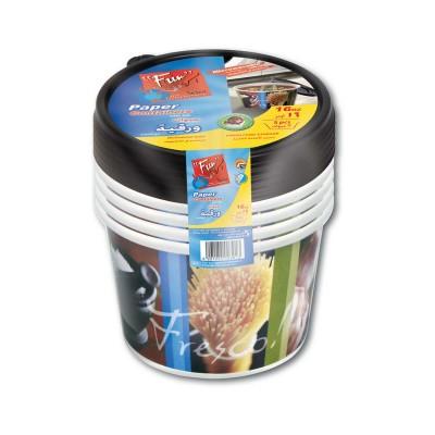 Fun® Printed Paper Container 16oz w/ Lid - Fresco! | 5pcsx30pkts