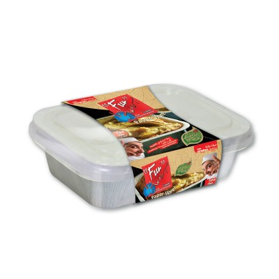Fun® Paper Container w/ Lid 16oz - White | 5pcsx10pkts