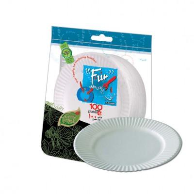 Fun® Standard Paper Plate ⌀6in - White | 100pcsx10pkts