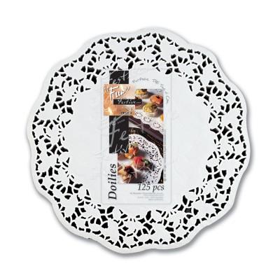 Fun® Round Doily ⌀12in - White | 250pcsx8pkts