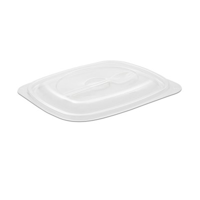 Tutipac Dome Lid w/ Spork for 24/32oz Plain Hot Multipurpose Containers PP | 150pcs