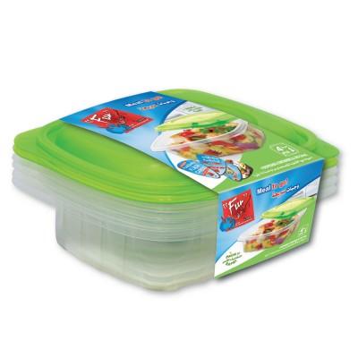 Fun® Multipurpose Containers 24oz + Lid   4pcsx 40pkts