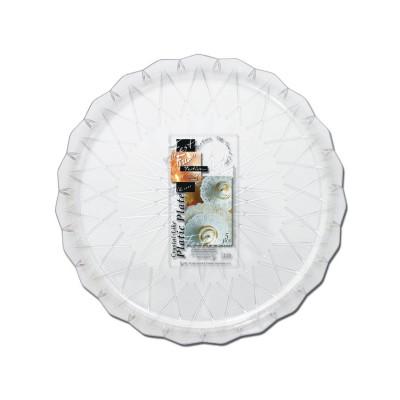 Fun® Crystal-Like Plastic Plate ⌀30cm | 5pcsx12pkts