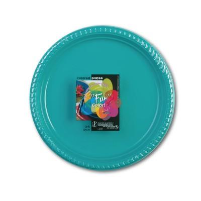 Fun® Plastic Plate ⌀22cm - Turquoise | 25pcsx20pkts