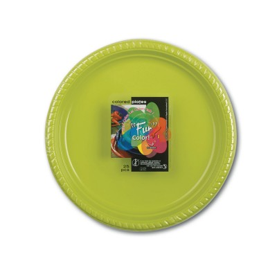 Fun® Plastic Plate ⌀22cm - Olive | 25pcsx20pkts