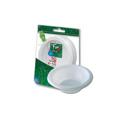 Fun® Plastic Bowl ⌀10cm - White | 50pcsx20pkts
