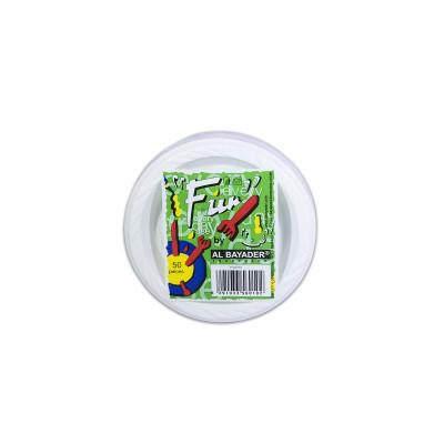 Fun® Plastic Plate ⌀10cm - White | 50pcsx20pkts