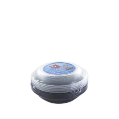 Fun® Multipurpose Black Round Container 16oz + Lid | 5pcsx25pkts