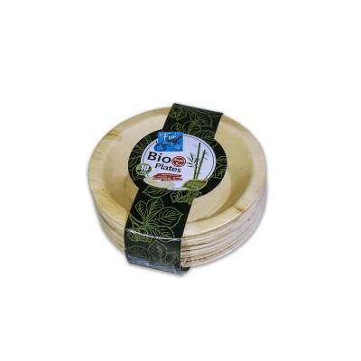 Fun® Palm Bio Leaf Round Plate ⌀6in | 10pcsx10pkts