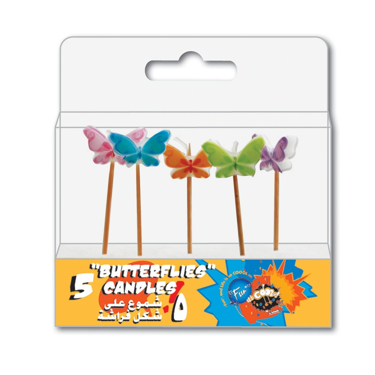 Fun® Birthday Candles  - Butterflies | 5pcsx12pkts