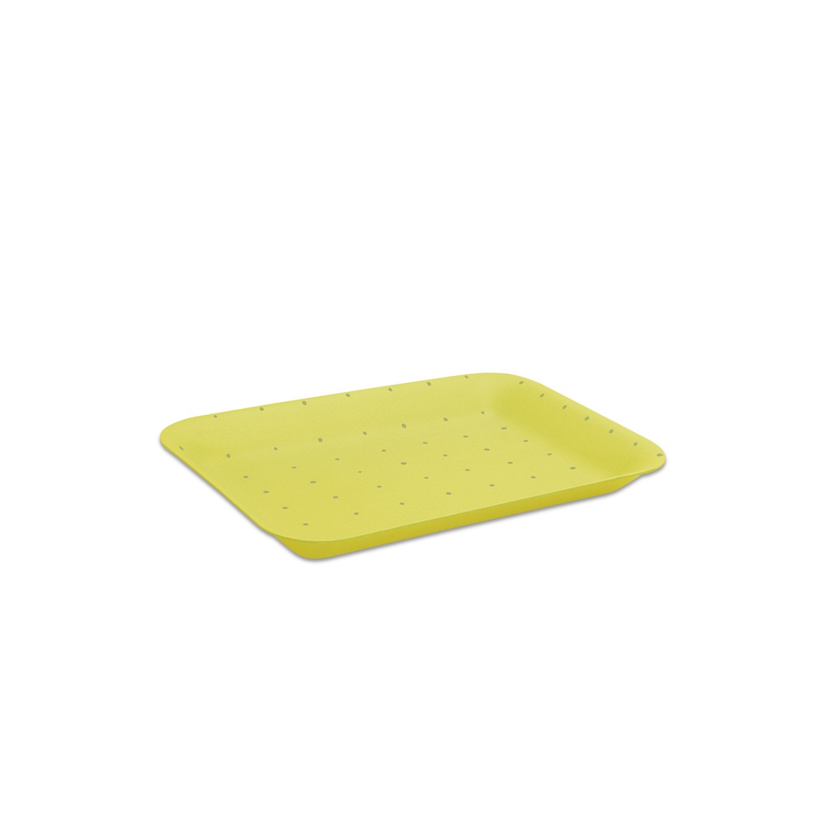 Foam Tray 216x152x20mm - Absorbent/Yellow | 500pcs